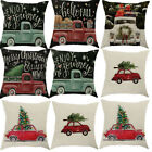 US Christmas Cotton Linen Pillow Case Sofa Waist Throw Cushion Cover Home Decor image
