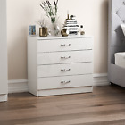Hulio Riano Chest of Drawers Dressing Table Wardrobe Bedroom Furniture White