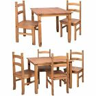 Corona 2 4 Seater Dining Set Table Chairs Mexican Solid Waxed Pine Furniture