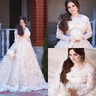 2018 Vestidos De Novia Lace Wedding Dresses Long Sleeve Bridal Gown Plus Size
