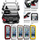 Heavy Duty Shock Proof Bumper Metal Cover Case Waterproof Iphone 4 5 6s 7 8 Plus