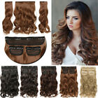 50cm in inch - 190G Thick Full Head Real as Human Hair Extensions Clip in 3 Pcs Smooth Long USA