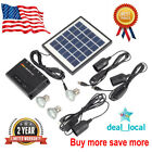 4W Outdoor Solar Power Panel LED Light Lamp Charger Garden Home System Kit