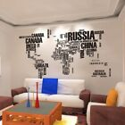 US DIY Wall Decal Sticker World Map Vinyl Art Mural Sticker