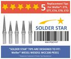 Best Weller ET Solder Tips Replacement Set - 5 Extra Long Life Soldering Iron