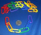 Oval Links (Qty 20-200) Plastic Oval C-Links C-Hooks Bird Parrot Bunny Toy Parts
