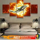 Miami Dolphins Football 5 pcs Painting Canvas Wall Art Poster Home Decorative on eBay