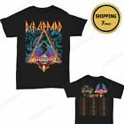 Def Leppard & Journey Tour Dates 2018 T-shirt Men's Black size S - 2XL tshirt image