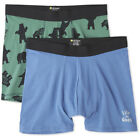 Life is Good. Mens Boxer Brief Bundle, Forest Green