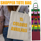 Basic Shopper Tote Bag Shopping Shops Beach Reusable Bag for Life LONG HANDLES