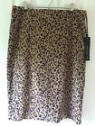 Chico's Black Label Faux Suede Animal Print Skirt Size 0