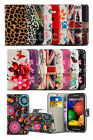 Vodafone Smart Speed 6 - Colourful Printed Pattern Card Slot Wallet Case Cover