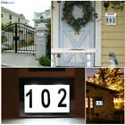 LED Solar Powered Light Stainless Steel House Door Number Gate Adress Sign Lamp