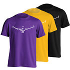 LeBron James Los Angeles Lakers Chalk Toss T-Shirt - LaBron LA Lakeshow Tee - S-