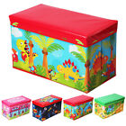 Boys Girls Kids Large Folding Storage Toy Box Books Chest Clothes Seat Stool