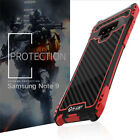 R-JUST Amira Carbon Fiber Full Case For Samsung Galaxy Note 9 Heavy Duty Cover