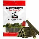 "USA 6"" Green Dental Chew Sticks Treats Dogs Protein Peppermint Flavor Turmeric"
