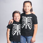 Childrens Halloween Skeleton T Shirts Trick Treat Party Boys Girls Fancy dress