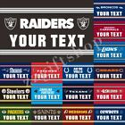 NFL Flag Text YOUR TEXT 3X2FT 5X3FT 6X4FT 100D Polyester Banner $33.0 USD on eBay