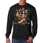 I Cry For You Day Of The Dead Sugar Skull Dia De Muertos Long Sleeve T-Shirt Tee