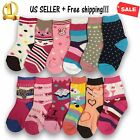 3 6 12 Pairs Yanoir Girls Ankle Cut Socks Crew Cotton Athletic Dress Casual Size