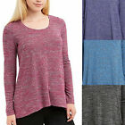 Jones New York Womens Long Sleeve Soft Knit Tunic Pullover Top Shirt
