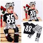 Stylish Toddler Kids Baby Girl T-shirt Tops Pants Leggings 2PCs Outfits Clothes