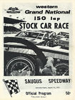 1970 Western Grand Natiohal Stock Car Race Saugus Speedway Official Program