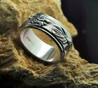 S925 Sterling Silver Dragon Men's Solid Sterling Spinner Ring Jewelry Retro