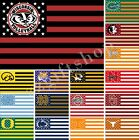 NCAA GHIJK Nation Flag 3X2FT 5X3FT 6X4FT 100D Polyester
