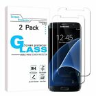 Screen Protector Tempered Glass For Samsung Galaxy S7 W/ 9H Bubble Free 2 Pack