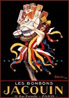Les Bonbons Jacquin 1926 Vintage Poster Print Air French Candy Advertising