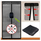Magnetic Mesh Door Magic Protection Curtain Snap Fly Bug Insect Mosquito Screen