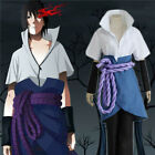 Halloween Cosplay Suit Anime Hokage Ninjia Uchiha Sasuke Costume full set outfit