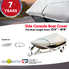 HEAVY DUTY SOLUTION DYED POLYESTER V-HULL SIDE CONSOLE BOAT COVER