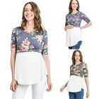 Women Pregnant Maternity Clothes Nursing Top Breastfeeding Floral T-Shirt Blouse
