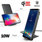 Baseus 3 Coils Qi Wireless Charger Fast Charging Pad Stand for Samsung S8 iPhone