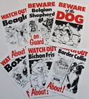 Signs, Metal Plaques, Caution, Beware, Watch Out, Welcome, Home, Dogs & Cats