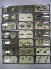 Antique Lot of 54 Keystone Scientific Stereoview 3D Picture Slides & Holder