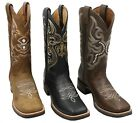 MENS RODEO COWBOY BOOTS GENUINE LEATHER WESTERN SQUARE TOE BOTAS CARR 380