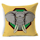 African Ethnic Linen Throw Elephant Pillow Case Sofa Car Cushion Cover Home Deco