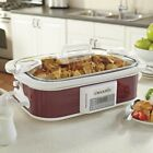 Crock-Pot Slow Cooker 3.5 Qt. Programmable Secure-Fit Lid Digital Timer
