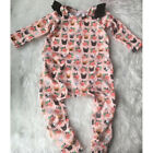 Pretty Dog Newborn Toddler Baby Girl Romper Bodysuit Jumpsuit Clothes Outfits US