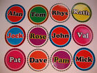 """12 CROWN GREEN  BOWLS STICKERS 1"""" NAMES"""