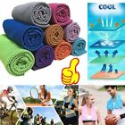 Cold Towel Summer Sports Ice Cooling Towel Hypothermia Cool Towel 90*35CM # NS