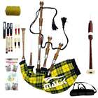 Full Size Great Highland Bagpipe Various Tartans with Chanter, Tutor Book, Bag