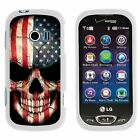 For LG Extravert 2 VN280 Hard Fitted 2 Piece Snap On Case White