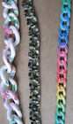Patterned Steel Chain CLOSEOUT Necklace Bracelet Rainbow FLORAL Wild Animal