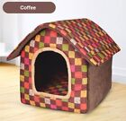 New Pet Dog Cat House Beds Kennel Indoor Raised Tent Cushion Mat Size S-L