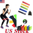 Yoga Pilates Workout Fitness Colors Elastic Resistance Loop Bands For Exercise image